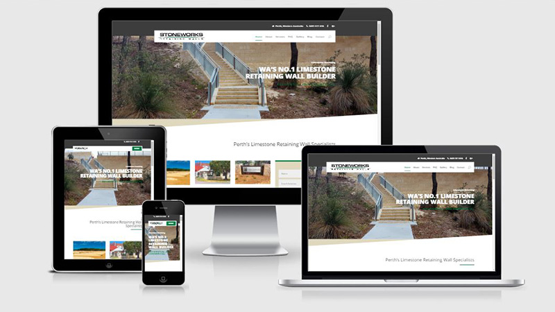WA Stoneworks, An SEO and website development campaign by Summit Web Perth