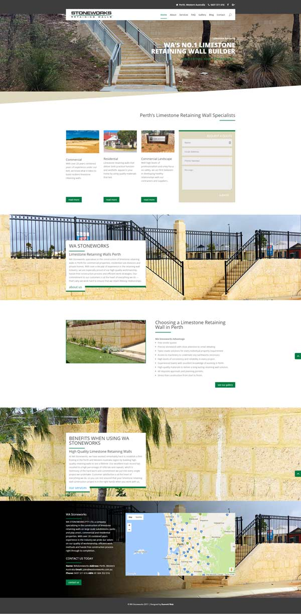 WA Stoneworks Search Engine Optimisation Marketing Campaign by Summit Web in Perth