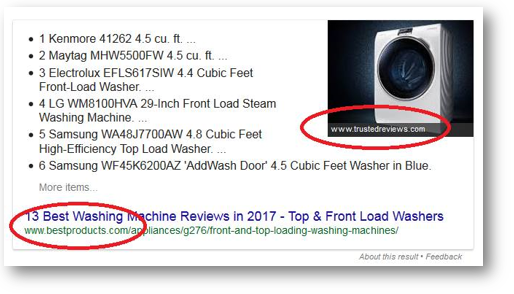 Image is being pulled from different website. How to rank google images