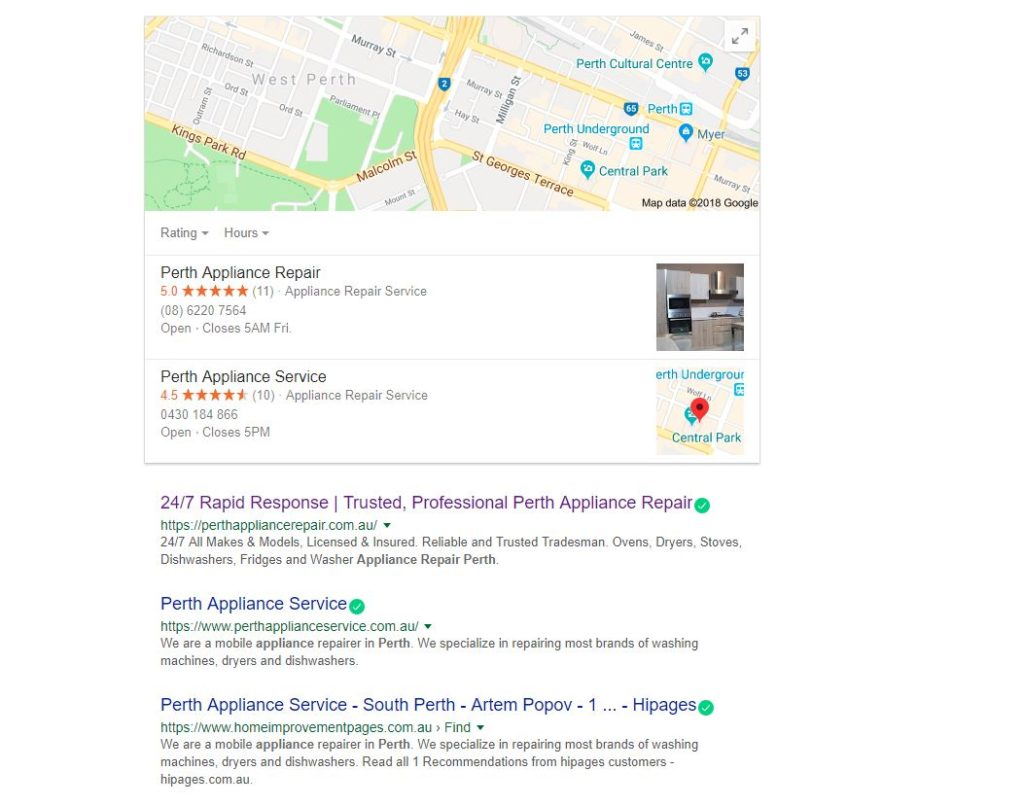 amazing seo results for a seo agency in Perth