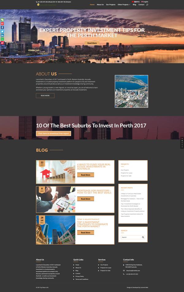 Avocado Investment Website Development in Perth, Western Australia