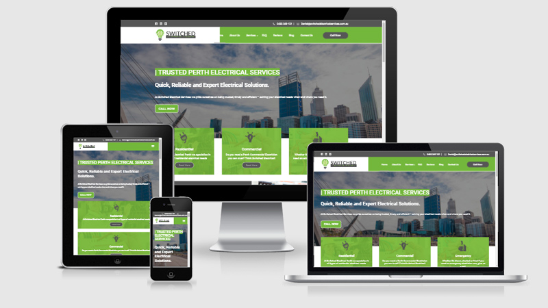 electrical services website development for joondalup client