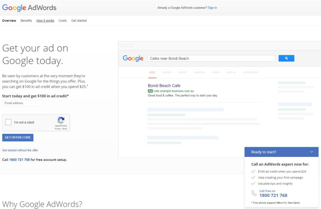 google adwords for the property finacial sector
