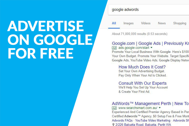 how to advertise on google for free