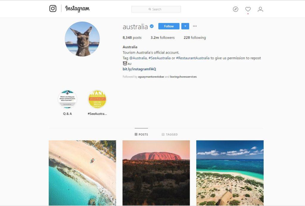 tourism Australia influencer marketing