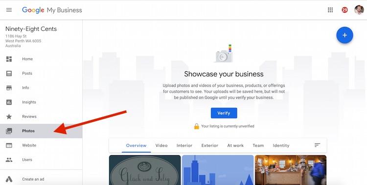 SEO Marketing Perth Western Australia Google My Business Local SEo add photos