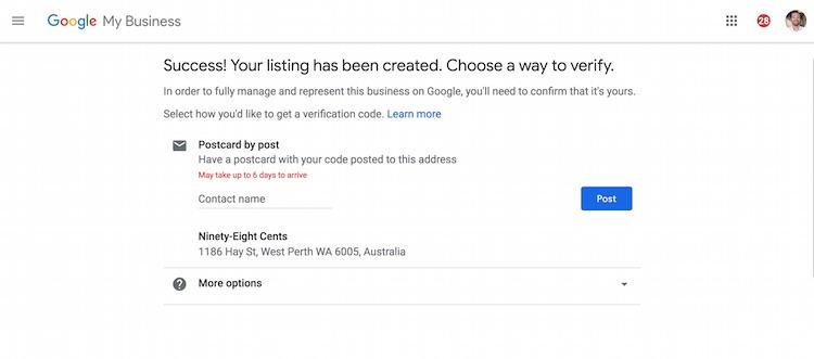 SEO Marketing Perth Western Australia Google My Business Local SEo Verification