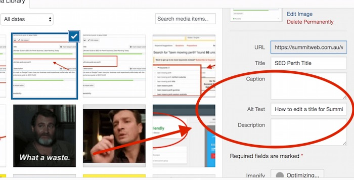 How to edit an Alt Tag for Summit Web Ultimate Guide to SEO